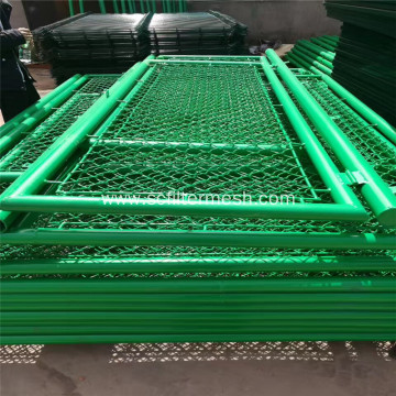 Green PVC Chain Link Mesh Fence